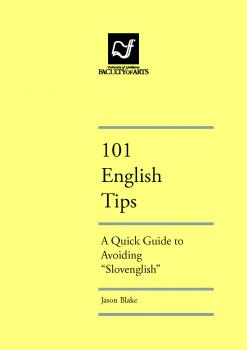 "Naslovnica za 101 ENGLISH TIPS: A Quick Guide to Avoiding ""Slovenglish"""