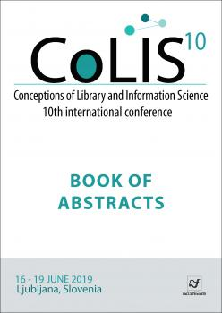 Naslovnica za Conceptions of Library and Information Science (CoLIS): Book of Abstracts
